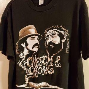 Cheech & Chong vintage tee size L mens.